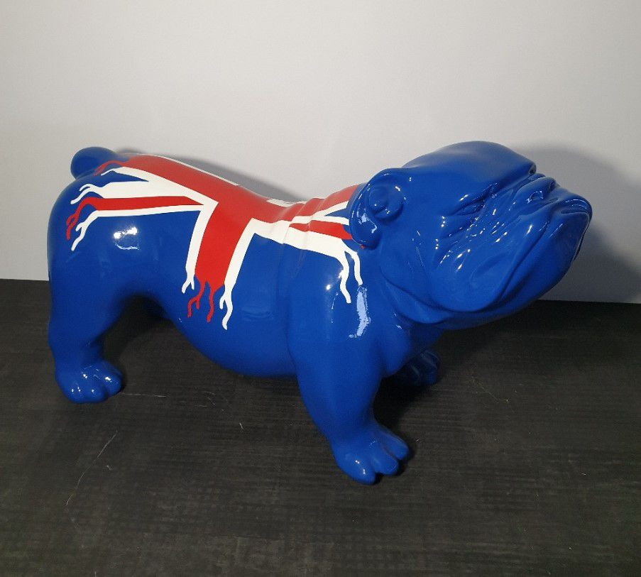 BULLDOG  37CM LAQUÉ DESIGN UK TRASH